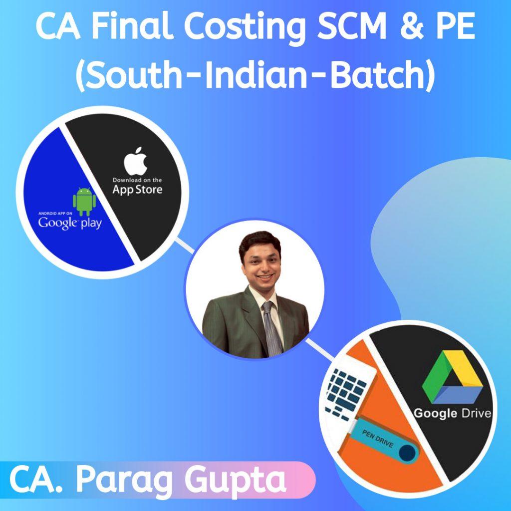 CA Final Costing New Course SCM & PE