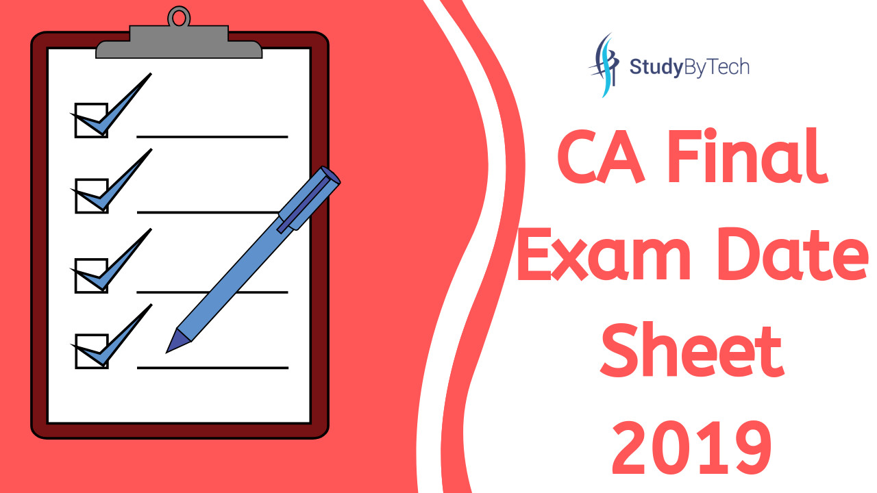 CA Final Exam Date Sheet
